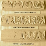 Acanthus-based moulding motifs.