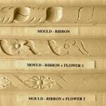 Ribbon-based moulding motifs.