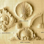 More complicated shells with acanthus leaves.