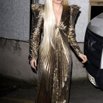 Lady Gaga in a headpiece hand-carved by Agrell Architectural Carving