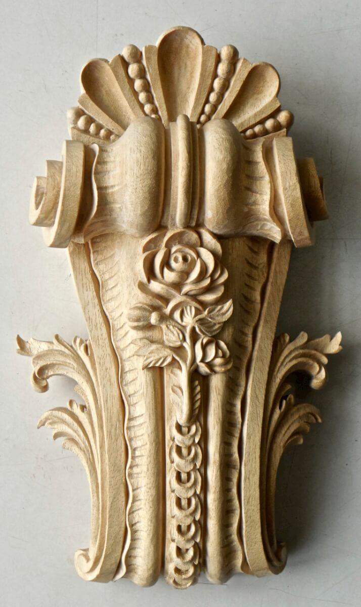 Bracket Based On Versailles Design Hand Carved In Wood