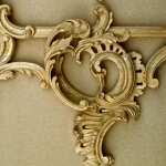 Detail from a Rococo-style frame, hand-carved in wood by Agrell Architectural Carving