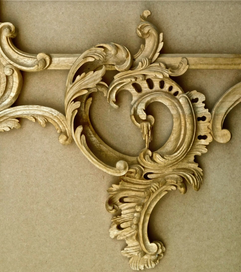 Agrell architectural carving period style primer rococo