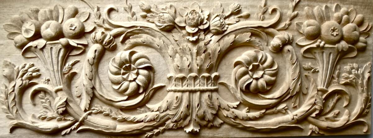 Agrell architectural carving battle of the roses