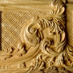 Baroque-style panel woodcarving, hand-carved by Agrell Architectural Carving