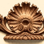 French-style shell applique