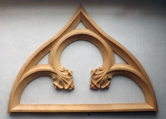 Gothic tracery woodcarving by Agrell Architectural Carving