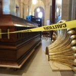 Installation of the organ case at the Cathedral of St. Paul, Minnesota
