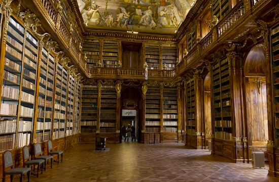 The Philosophical Hall at Strahov Monastery in Prague