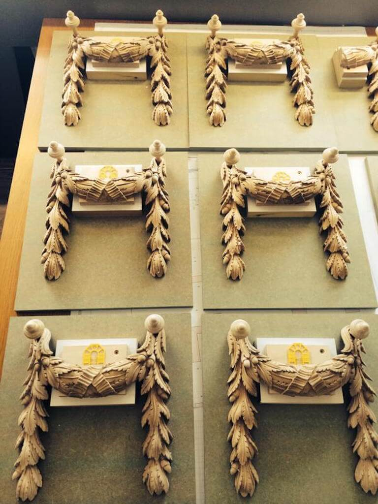 Hand-carved swags ready for gilding