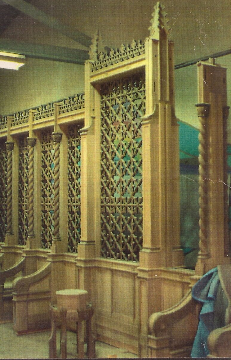 Construction of the chancel screen for the Cathedral of the Madeleine