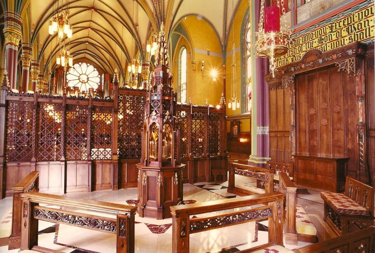 Chancel screen and tabernacle of the Cathedral of the Madeleine, Salt Lake City