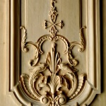 French-style boiserie panel woodcarving