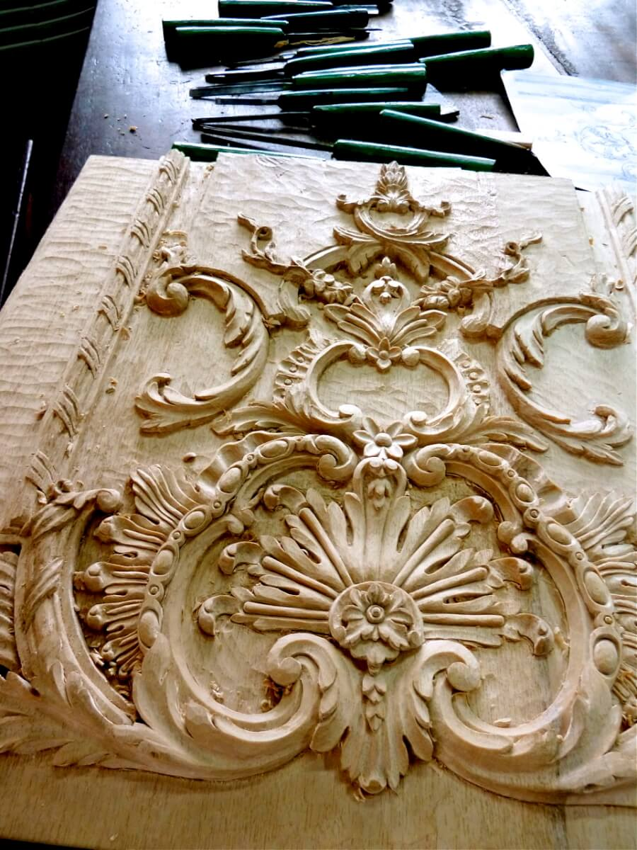 French-style boiserie panel based