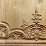 French-style boiserie panel