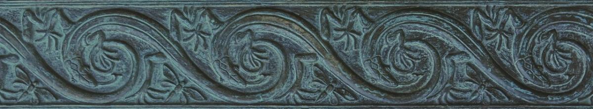 Art Nouveau-style frieze cast in bronze