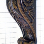Bronze corbel cast from a hand-carved wood master