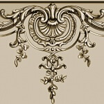 Detail: Hand-carved wood panel decoration