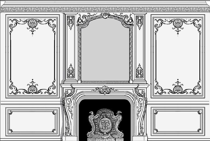 French-Style Room: Alternative sketch