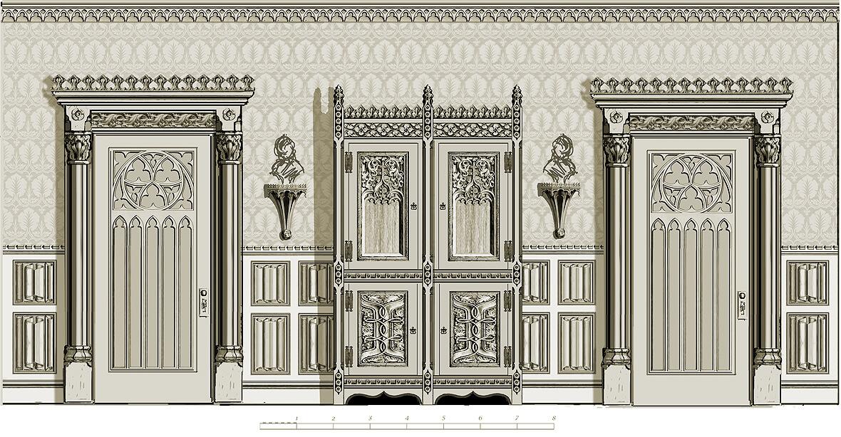 Gothic room: alternative sketch