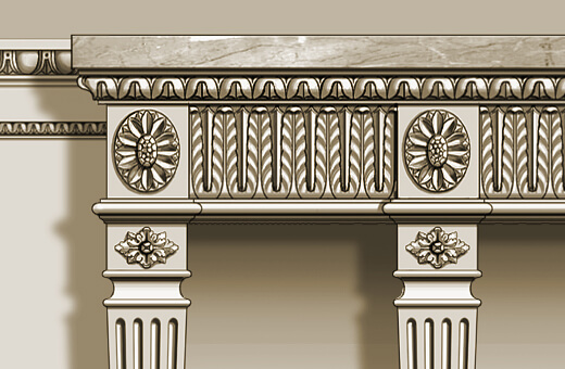 Detail: Neoclassical console table