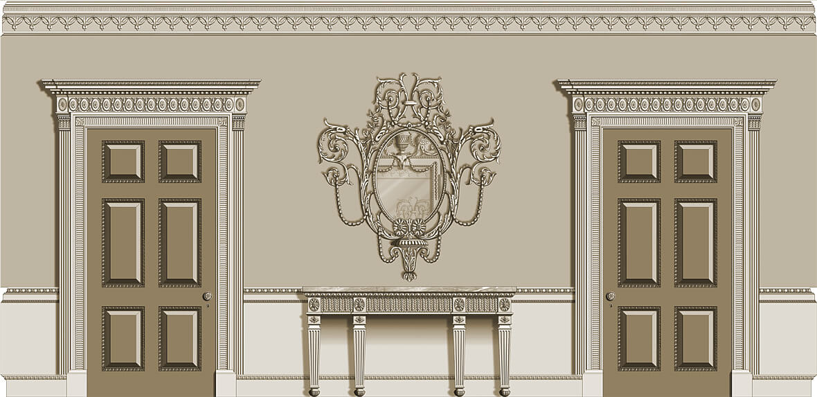 Neoclassical Room: North Elevation