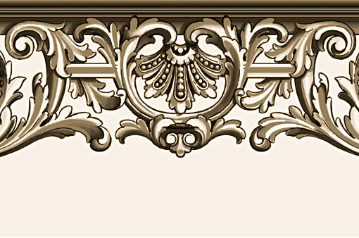 Detail: French-style console table apron