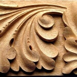 Gothic frieze woodcarving
