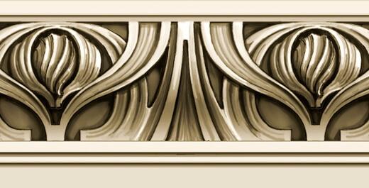 Detail: Art Nouveau-style moulding