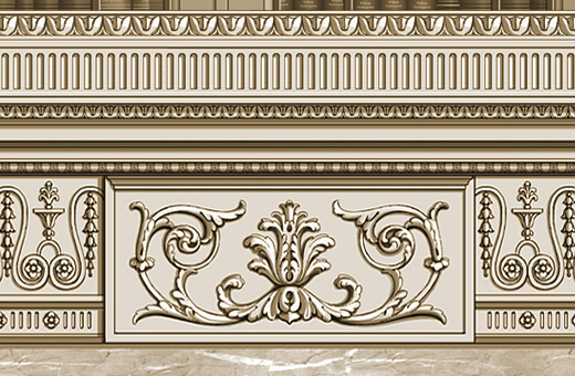 Detail: Carved Fire surround frieze