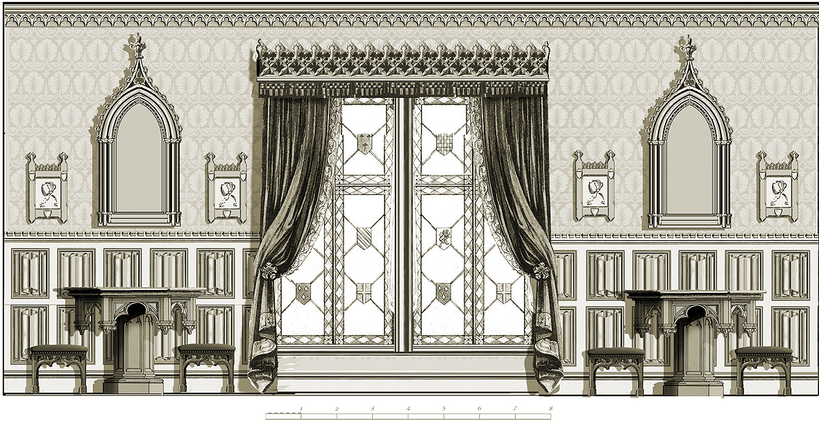 Gothic room: alternative sketch