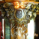 Art Nouveau capital, cast in bronze and polished