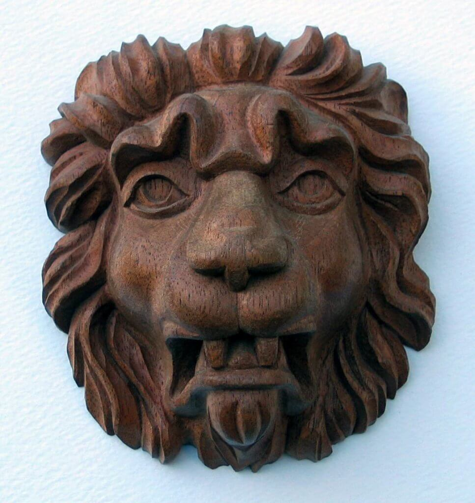 Agrell Architectural Carving hand carved lion head