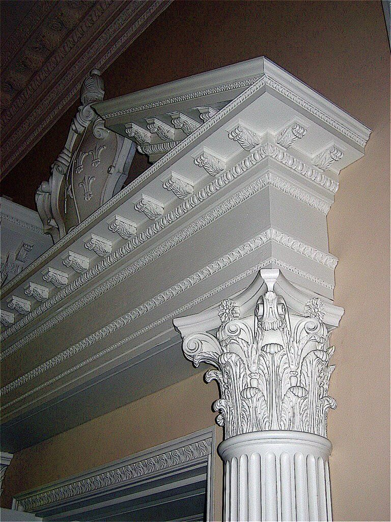 Hand-carved Corinthian capital for Fulham Palace, London